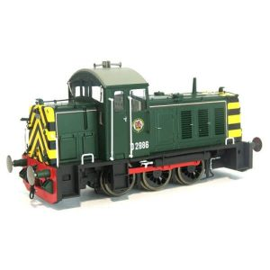 Heljan 2904 Class 07 D2986 BR Green with Wasp Stripes