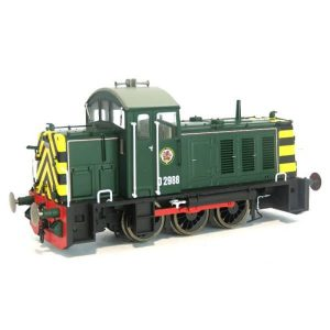 Heljan 2905 Class 07 D2988 BR Green with Wasp Stripes