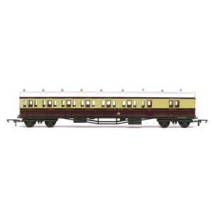Hornby R4549C E140 'B' Set Brake Composite Coach GWR Chocolate & Cream