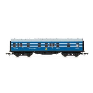 Hornby R4963 57′ Stanier RK Kitchen Car 'Coronation Scot' LMS Coronation Blue