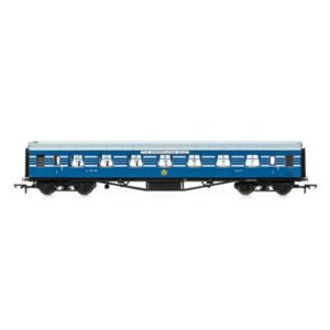 Hornby R4964 65′ Stanier RFO Restaurant First Open 'Coronation Scot' LMS Coronation Blue