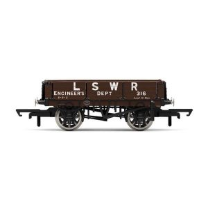 Hornby R6944 3 Plank Wagon LSWR Engineers Brown