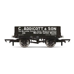 Hornby R6945 4 Plank Wagon C. Addicott & Son No.30