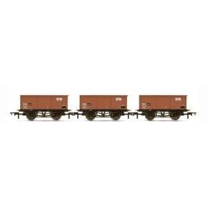 Hornby R6965 27T MSV Iron Ore Tippler Wagon Pack BR Bauxite