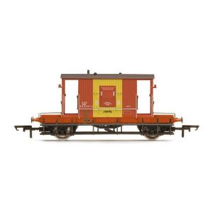 Hornby R6985 D1/507 20T Brake Van BR Brown & Yellow