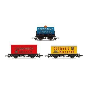 Hornby R6990 Hornby 'Retro' Wagon Pack Crawfords / Colmans / Seccotine