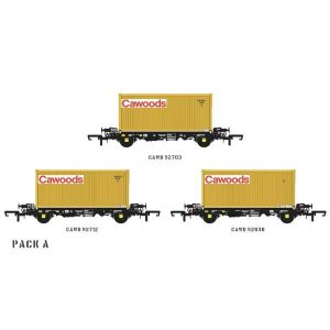 Accurascale ACC2060 PFA 2 Axle Container Wagon Cawoods Coal Pack A