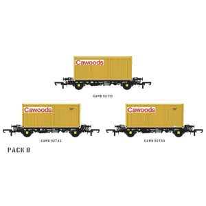 Accurascale ACC2061 PFA 2 Axle Container Wagon Cawoods Coal Pack B