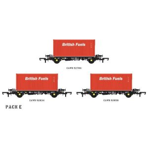 Accurascale ACC2065 PFA 2 Axle Container Wagon British Fuels Pack E
