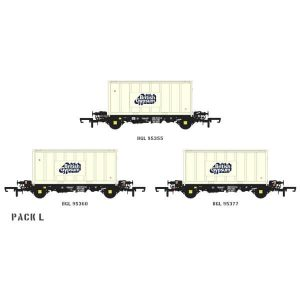 Accurascale ACC2073 PFA 2 Axle Container Wagon British Gypsum Pack L