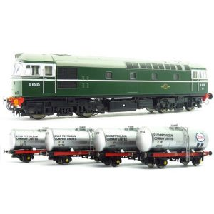 Heljan 1096 Class 33/0 D6535 BR Green with 4 x A Tank Wagons in Esso Silver Livery