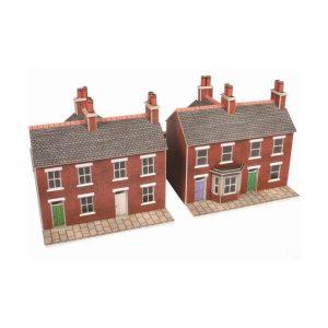 Metcalfe Models PN103 N Gauge Terraced Houses in Red brick