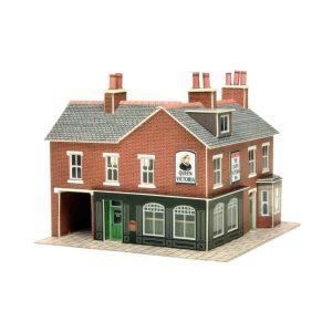 Metcalfe Models PN116 N Gauge Corner Shop & Pub in Red Brick