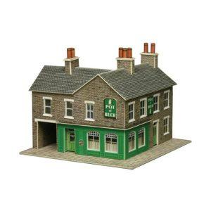 Metcalfe Models PN117 N Gauge Corner Shop & Pub in Stone