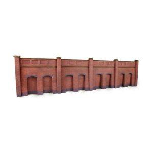 Metcalfe Models PN145 N Gauge Retaining Wall in Red Brick