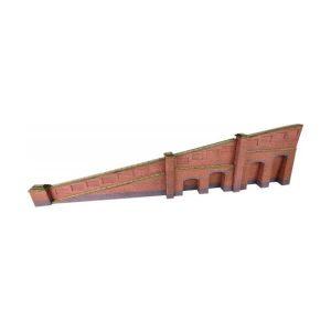 Metcalfe Models PN148 N Gauge Tapered Retaining Wall in Red Brick