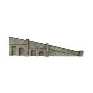 Metcalfe Models PN149 N Gauge Tapered Retaining Wall in Stone