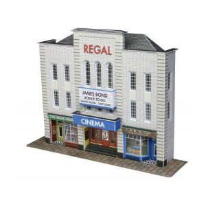 Metcalfe Models PN170 N Gauge Low Relief Cinema & Two Shops