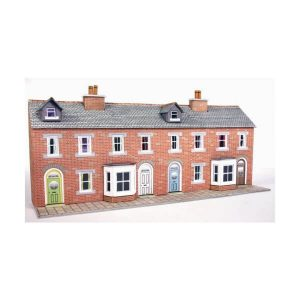 Metcalfe Models PN174 N Gauge Low Relief Red Brick Terraced House Fronts