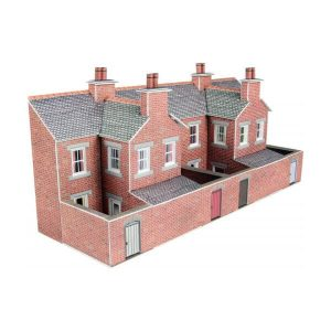 Metcalfe Models PN176 N Gauge Low Relief Red Brick Terraced House Backs