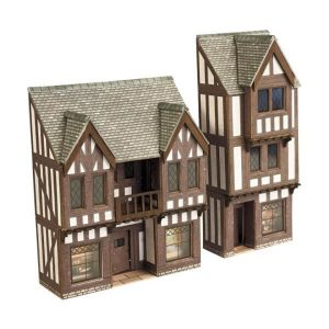 Metcalfe Models PN190 N Gauge Low Relief Timber Framed Shops
