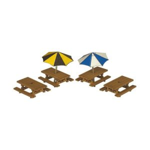Metcalfe Models PN810 N Gauge Picnic Tables