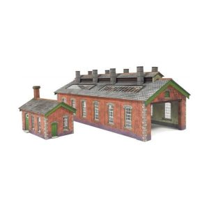 Metcalfe Models PN913 N Gauge Double Track Engine Shed