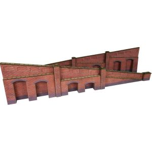 Metcalfe Models PO248 OO/HO Scale Tapered Retaining Wall in Red Brick