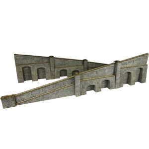 Metcalfe Models PO249 OO/HO Scale Tapered Retaining Wall in Stone