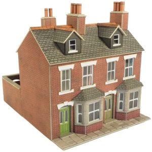 Metcalfe Models PO261 OO/HO Scale Terraced Houses in Red Brick