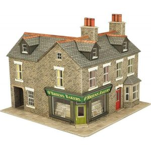 Metcalfe Models PO264 OO/HO Scale Corner Shop in Stone