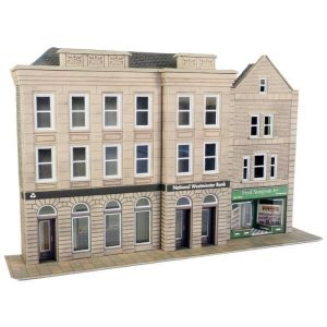 Metcalfe Models PO271 OO/HO Scale Low Relief Bank & Shop