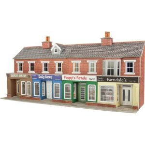 Metcalfe Models PO272 OO/HO Scale Low Relief Red Brick Shop Fronts