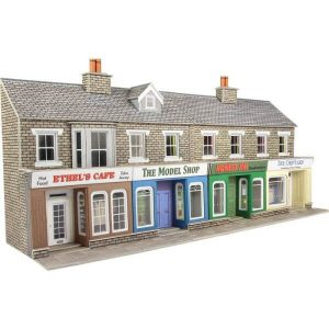 Metcalfe Models PO273 OO/HO Scale Low Relief Stone Shop Fronts