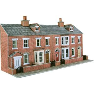 Metcalfe Models PO274 OO/HO Scale Low Relief Red Brick Terraced House Fronts