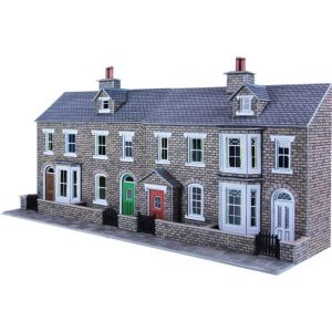 Metcalfe Models PO275 OO/HO Scale Low Relief Stone Terraced House Fronts