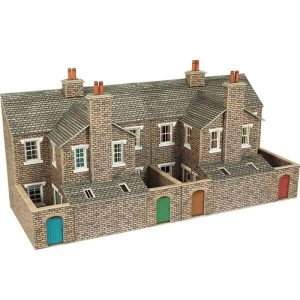 Metcalfe Models PO277 OO/HO Scale Low Relief Stone Terraced House Backs