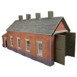 Metcalfe Models PO331 OO/HO Scale Red Brick Single Track Engine Shed