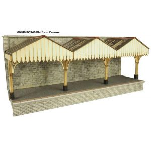 Metcalfe Models PO341 OO/HO Scale Wall Backed Platform Canopy