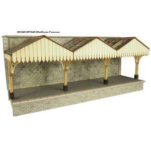 Metcalfe Models PO341 OO/HO Scale Wall Backed Platform Canopy