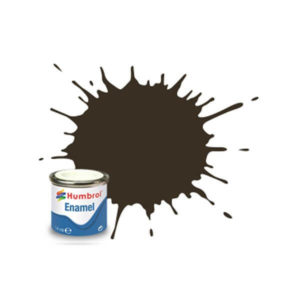 Humbrol 10 Gloss Service Brown 14ml Enamel Tinlet