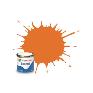 Humbrol 18 Gloss Orange 14ml Enamel Tinlet