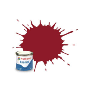 Humbrol 20 Gloss Crimson 14ml Enamel Tinlet