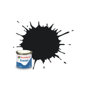 Humbrol 21 Gloss Black 14ml Enamel Tinlet