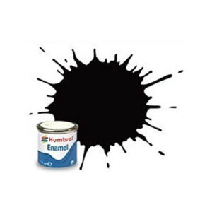 Humbrol 85 Satin Black 14ml Enamel Tinlet