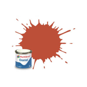 Humbrol 100 Matt Red Brown 14ml Enamel Tinlet