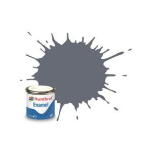 Humbrol 123 Satin Extra Dark Sea Grey 14ml Enamel Tinlet