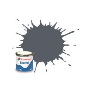 Humbrol 125 Satin U.S. Dark Grey 14ml Enamel Tinlet