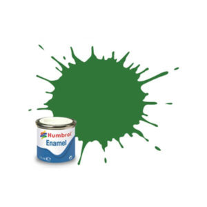 Humbrol 131 Satin Mid Green 14ml Enamel Tinlet