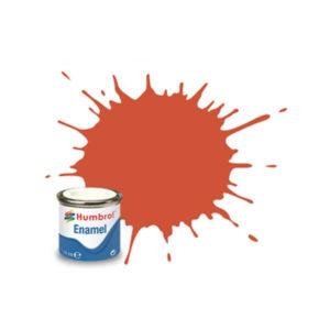 Humbrol 132 Satin Red 14ml Enamel Tinlet